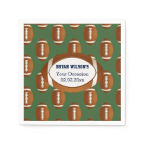 Sports Party football theme Personalized Napkin