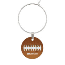 Sports Party football theme Wine Charm