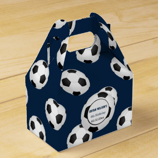 Sports Party Soccer Theme Personalized Favor Box   Soccer Valentine Box