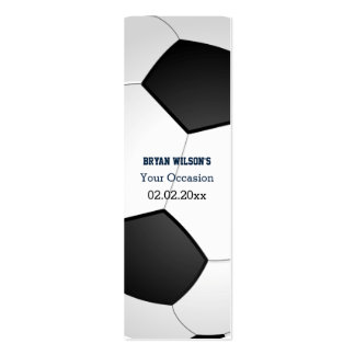 Sports Party Soccer theme Personalized Gift Tags Business Card Templates