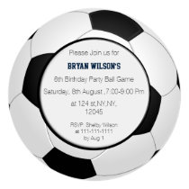 Sports Party Soccer theme Personalized Invites