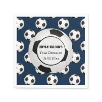 Sports Party Soccer theme Personalized napkins