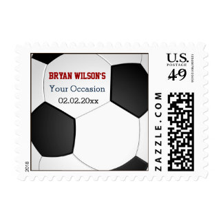 Sports Party Soccer theme Personalized Stamps
