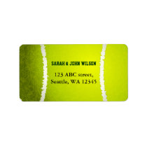 Sports Party Tennis theme address label