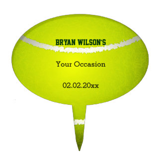 Sports Party Tennis theme Personalized Cake Pick