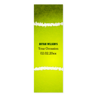 Sports Party Tennis theme Personalized Gift Tags Double-Sided Mini Business Cards (Pack Of 20)