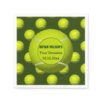 Sports Party Tennis theme Personalized napkins