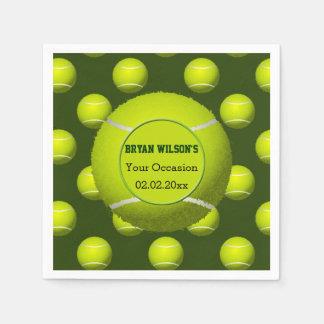 Sports Party Tennis theme Personalized napkins