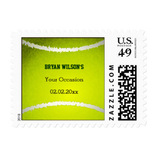 Sports Party Tennis theme Personalized Stamps