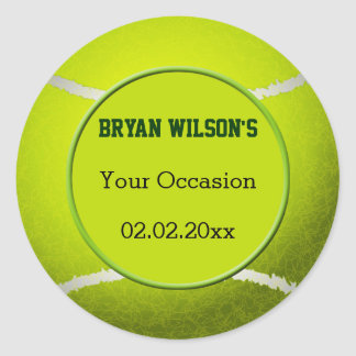 Sports Party Tennis theme Personalized stickers