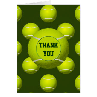 Sports Party Tennis theme Personalized Thank You Card