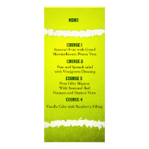 Sports Party Tennisntheme Personalize Menu cards