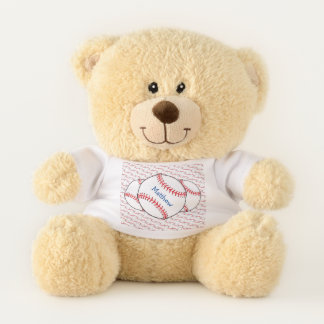 Sports Patriotic Baseball Teddy Bear