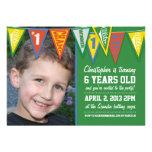 Sports Pennant Birthday Invitation