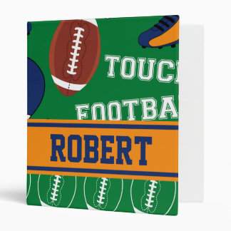 SPORTS Personalize Football Pattern for Children 3 Ring Binder