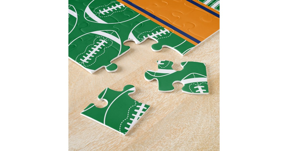 SPORTS Personalize Football Pattern for Children Jigsaw ...