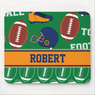 SPORTS Personalize Football Pattern for Children Mouse Pad