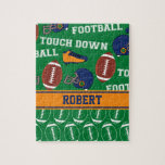 SPORTS Personalize Football Pattern for Children Puzzle
