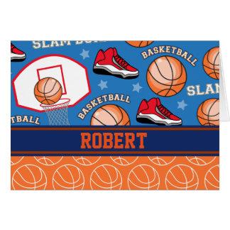 SPORTS Personalize Name Basketball Fan Fun Pattern Card