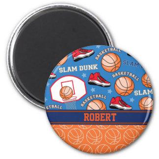 SPORTS Personalize Name Basketball Fan Fun Pattern Magnet