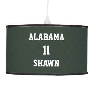 Sports Personalized Ash Green Pendant Lamp