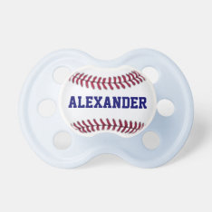Sports Personalized Baseball Pacifier at Zazzle