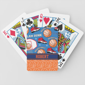 SPORTS Personalized Name Basketball Fan Pattern Bicycle Playing Cards