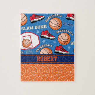 SPORTS Personalized Name Basketball Fan Pattern Jigsaw Puzzle