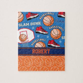 SPORTS Personalized Name Basketball Fan Pattern Jigsaw Puzzle