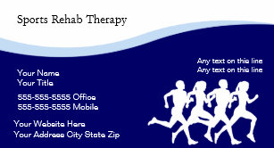 Physical therapy business cards templates zazzle sports physical therapy business cards colourmoves