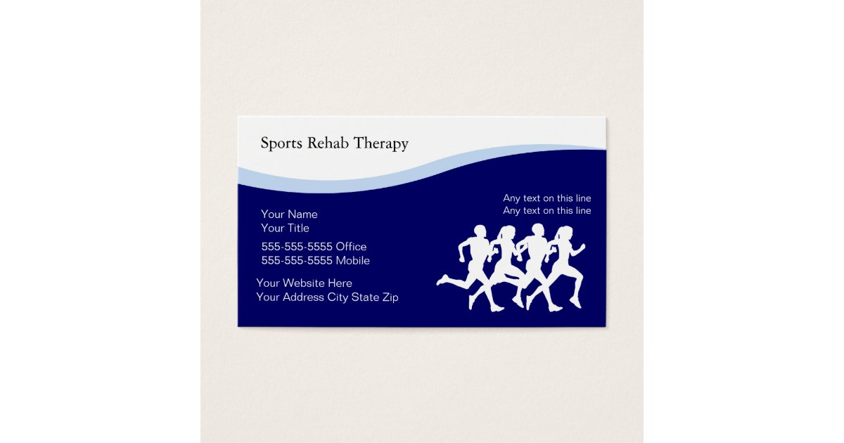 Sports Physical Therapy Business Cards | Zazzle.com
