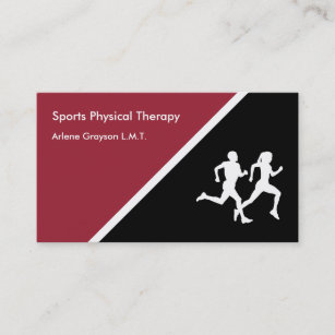 Sports therapy business cards templates zazzle sports physical therapy rehab business card colourmoves