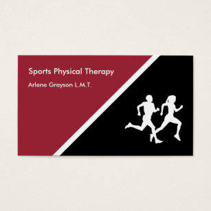 Sports therapy business cards templates zazzle sports physical therapy rehab business card colourmoves Gallery