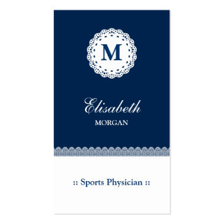Sports Physician Blue Lace Business Card