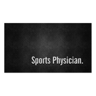 Sports Physician Cool Black Metal Simplicity Business Card Templates