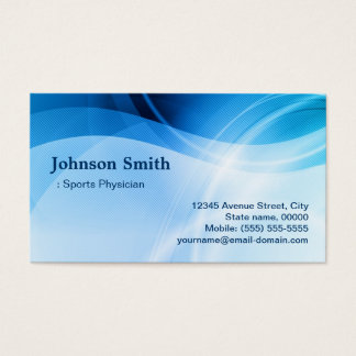 Sports Physician - Modern Blue Creative Business Card