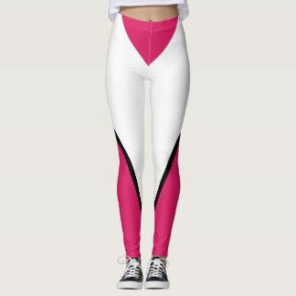 Sports Pink Black Bold Designer Sporty Chic Pants