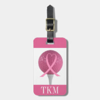 Sports - Pink Ribbon Golf Luggage Tag