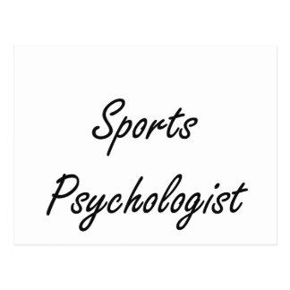 Sports Psychologist Artistic Job Design Postcard