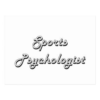 Sports Psychologist Classic Job Design Postcard