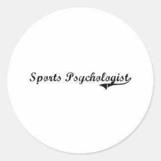 Sports Psychologist Professional Job Round Stickers