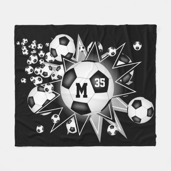 sports room soccer ball blowout ANY COLOR Fleece Blanket