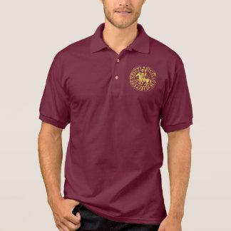 Sports shirt Bordeaux Seal Gilded Templar