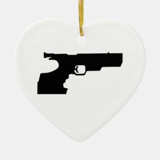 Sports shooting gun ceramic ornament