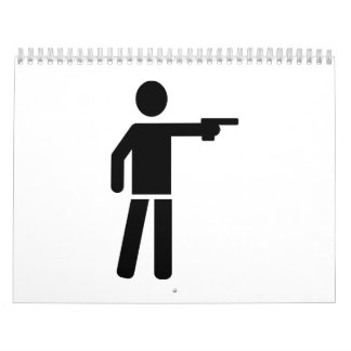 Sports shooting icon calendar