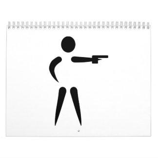 Sports shooting logo calendar