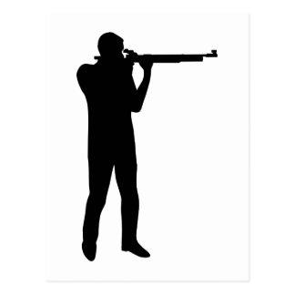 Sports shooting rifle postcard