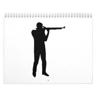Sports shooting rifle calendar
