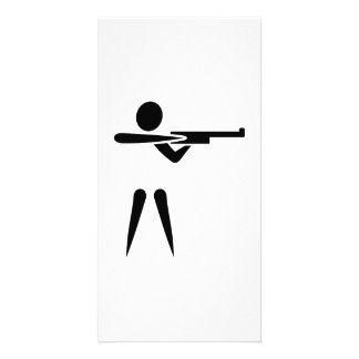 Sports shooting symbol photo card