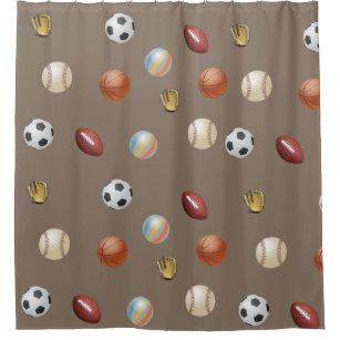 Sports Ball Shower Curtains